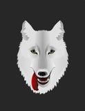 Άσπρη διανυσματική απεικόνιση λύκων Στοκ Εικόνες