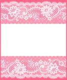 Άσπρη κάρτα δαντελλών Στοκ Εικόνες