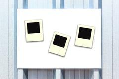 Άσπρη καθαρή στιγμιαία φωτογραφία σημαδιών Στοκ Φωτογραφίες