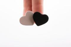 Άσπρη και μαύρη καρδιά Στοκ Εικόνες