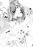 Άσπρη και μαύρη μαρμάρινη σύσταση Στοκ Εικόνα