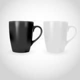 Άσπρη και μαύρη Photorealistic απεικόνιση φλυτζανιών για τα πρότυπα και Στοκ εικόνες με δικαίωμα ελεύθερης χρήσης