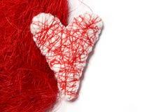 Άσπρη καρδιά βαλεντίνος Στοκ Φωτογραφία
