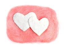 Άσπρη καρδιά βαλεντίνος Στοκ εικόνες με δικαίωμα ελεύθερης χρήσης