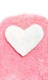 Άσπρη καρδιά βαλεντίνος Στοκ Εικόνες