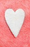 Άσπρη καρδιά βαλεντίνος Στοκ Εικόνα