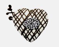 Άσπρη καρδιά σοκολάτας στην καλή ημέρα Στοκ φωτογραφία με δικαίωμα ελεύθερης χρήσης