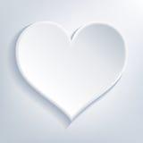 Άσπρη καρδιά Στοκ εικόνα με δικαίωμα ελεύθερης χρήσης