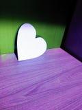 Άσπρη καρδιά Στοκ φωτογραφίες με δικαίωμα ελεύθερης χρήσης