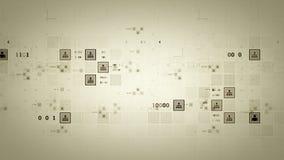 Άσπρη καταδίωξη πλεγμάτων σύνδεσης διανυσματική απεικόνιση