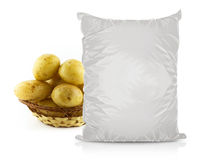 Άσπρη κενή τσάντα τροφίμων φύλλων αλουμινίου Στοκ Εικόνες
