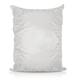 Άσπρη κενή τσάντα τροφίμων φύλλων αλουμινίου Στοκ φωτογραφίες με δικαίωμα ελεύθερης χρήσης