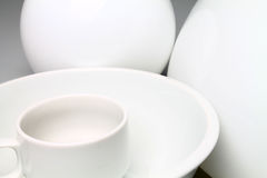 Άσπρη κεραμική Στοκ Φωτογραφία