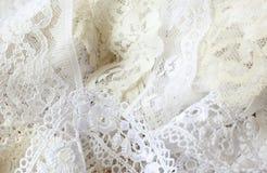 Άσπρη κορδέλλα δαντελλών Στοκ Εικόνα