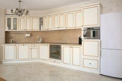 Άσπρη κουζίνα Στοκ Φωτογραφία