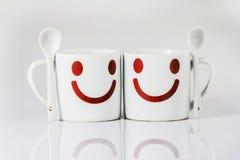 Άσπρη κούπα καφέ στοκ εικόνες