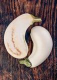 2 άσπρη κολοκύνθη Στοκ Εικόνα