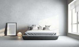 Άσπρη κρεβατοκάμαρα Στοκ Εικόνες