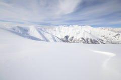 Άσπρη κλίση σκι Στοκ Εικόνες