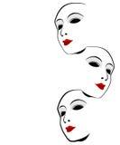 Άσπρη μάσκα Στοκ εικόνες με δικαίωμα ελεύθερης χρήσης