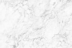 Άσπρη μαρμάρινη σύσταση για το υπόβαθρο και το σχέδιο Στοκ Φωτογραφίες