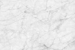 Άσπρη μαρμάρινη σύσταση, λεπτομερής δομή του μαρμάρου σε φυσικό που διαμορφώνεται για το υπόβαθρο και σχέδιο Στοκ Εικόνα