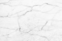 Άσπρη μαρμάρινη σύσταση, λεπτομερής δομή του μαρμάρου σε φυσικό που διαμορφώνεται για το υπόβαθρο και σχέδιο Στοκ Εικόνες
