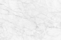 Άσπρη μαρμάρινη σύσταση, λεπτομερής δομή του μαρμάρου σε φυσικό που διαμορφώνεται για το υπόβαθρο και σχέδιο Στοκ Φωτογραφίες