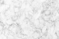 Άσπρη μαρμάρινη σύσταση με τις λεπτές γκρίζες φλέβες Στοκ εικόνες με δικαίωμα ελεύθερης χρήσης