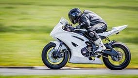 Άσπρη μοτοσικλέτα Στοκ Εικόνα