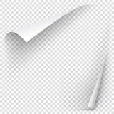 Άσπρη μπούκλα εγγράφου κλίσης Στοκ Εικόνες