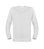 Άσπρη μπλούζα με τα μακριά μανίκια που απομονώνονται στο άσπρο υπόβαθρο Στοκ Εικόνες
