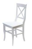 Άσπρη ξύλινη καρέκλα Στοκ φωτογραφίες με δικαίωμα ελεύθερης χρήσης