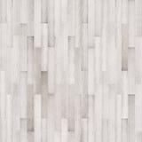 Άσπρη ξύλινη σύσταση, άνευ ραφής ξύλινη σύσταση πατωμάτων Στοκ Φωτογραφίες