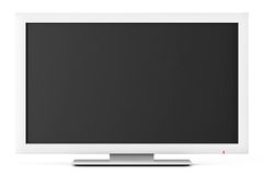 Άσπρη οδηγημένη ή TV LCD Στοκ Εικόνα
