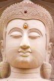 Άσπρη πέτρα που χαράζει το Βούδα με το naga 01 Στοκ Φωτογραφίες