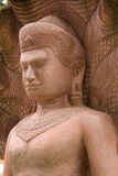 Άσπρη πέτρα που χαράζει το Βούδα με το naga 04 Στοκ φωτογραφίες με δικαίωμα ελεύθερης χρήσης