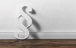 Άσπρη παράγραφος στο δωμάτιο Στοκ φωτογραφίες με δικαίωμα ελεύθερης χρήσης