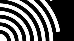 Άσπρη περιστροφή κύκλων γύρω από ένα προς ένα απεικόνιση αποθεμάτων