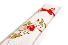 Άσπρη πετσέτα υφασμάτων Στοκ εικόνα με δικαίωμα ελεύθερης χρήσης