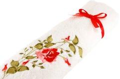 Άσπρη πετσέτα υφασμάτων Στοκ Φωτογραφία