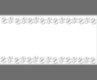 Άσπρη πρόσκληση blanco Στοκ φωτογραφία με δικαίωμα ελεύθερης χρήσης