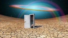Άσπρη πόρτα διανυσματική απεικόνιση