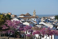 Άσπρη πόλη, Antequera, Ισπανία. Στοκ εικόνες με δικαίωμα ελεύθερης χρήσης