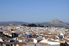 Άσπρη πόλη, Antequera, Ισπανία. Στοκ Φωτογραφίες