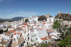Άσπρη πόλη Olvera, Ισπανία στοκ εικόνα