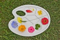 Παλέτα με τα χρώματα των λουλουδιών. Στοκ εικόνα με δικαίωμα ελεύθερης χρήσης