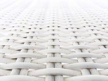Άσπρη πλαστική ύφανση Στοκ Εικόνες