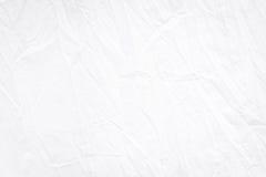 Άσπρη ρυτίδα υφάσματος που διπλώνει τη σύσταση που εκτίθεται λεπτομερώς για το σχέδιο επικαλύψεων ή υποβάθρου Στοκ Φωτογραφίες