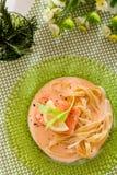 Άσπρη σάλτσα Fettucine στοκ εικόνες